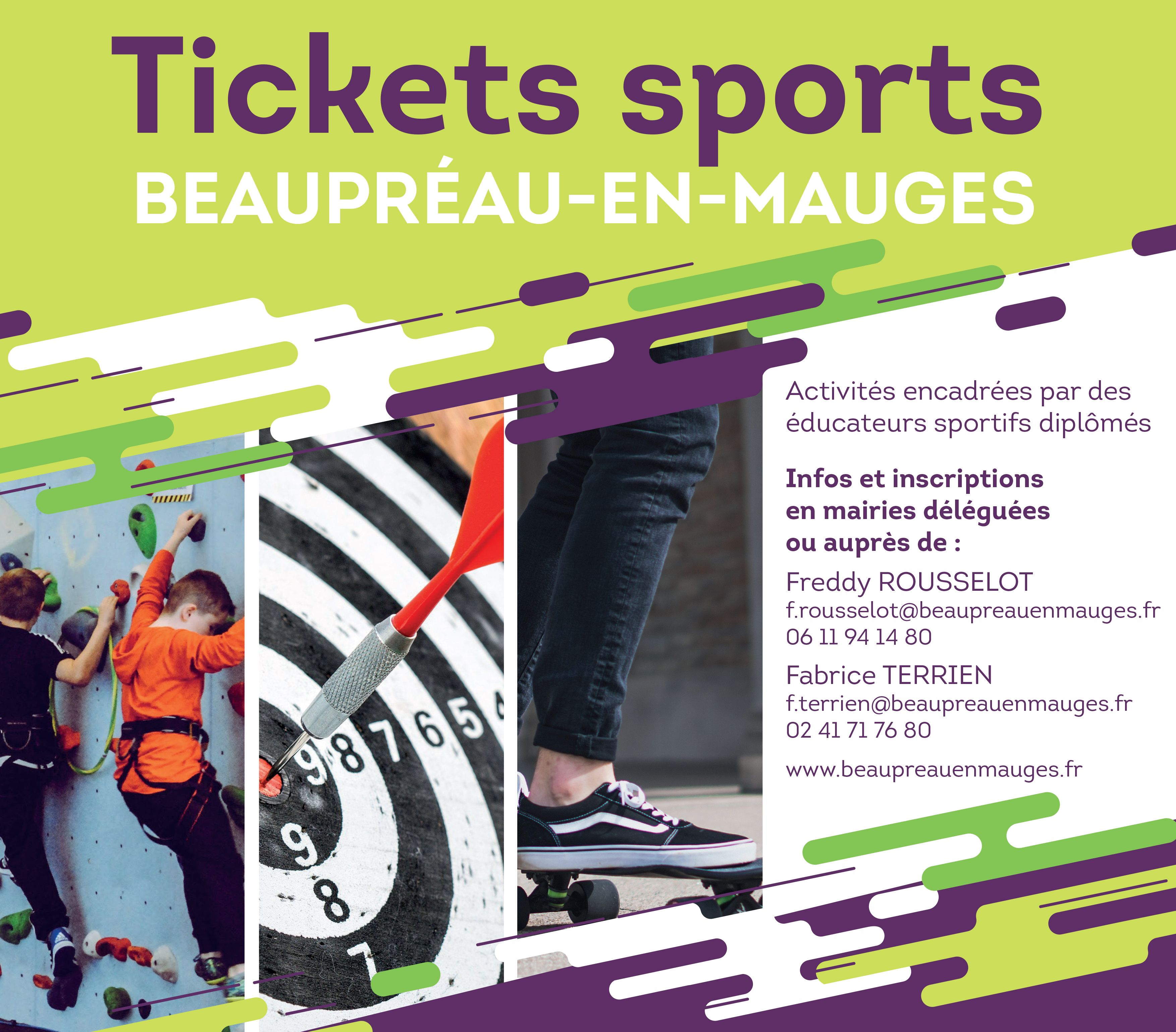 Tickets sports avril 2019